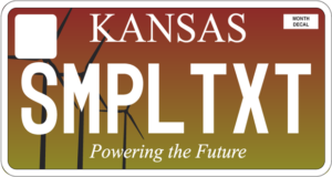 kansas personalized license plate