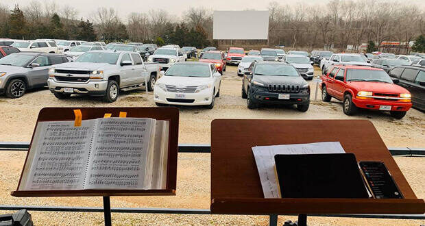 church at the drive-in